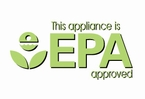 This appliance is EPA approuved (green/white)